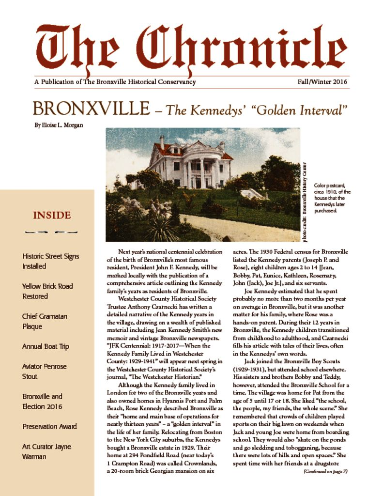 thumbnail of The Chronicle Fall 2016 medres