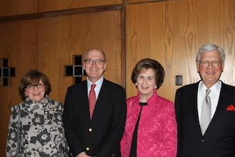 L to R: Judith Unis, Nathaniel Philbrick, Marilynn Hill, Bill Dowling